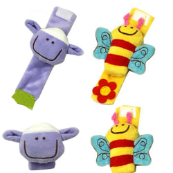 Lovely Soft Baby Wrist Rattle Toy Hands Finder Bee & Sheep Bee