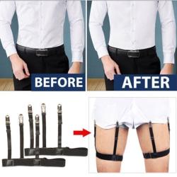 Manliga dolda skjortor för män förblir hållare Strumpeband Bälte Halkfri Elasti