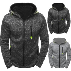 Men''s Hoodie Fleece Zip Up Hoodie Jacket Sweatshirt Hooded Zip Black XL