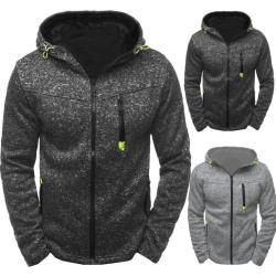 Men''''s Hoodie Fleece Zip Up Hoodie Jacket Sweatshirt Hooded Z Black XL