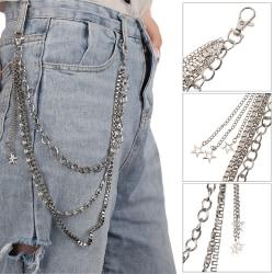 Metal Gothic Pants Chain Hip Hop Punk 3 Layers Jean Key Wallet