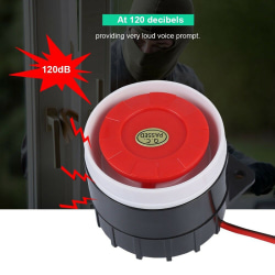 Mini Wired Car Horn Speaker Siren Home Security Sound Alarm Syst Black