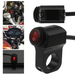 Motorcycle Handlebar Light On Off Switch Waterproof ATV Headlig Black