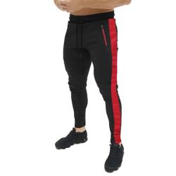 Nya Män Slim Fit Stripe Träningsbyxor Skinny Joggers Sweat