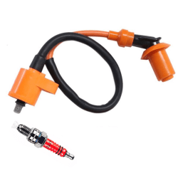 Racing Ignition Coil+Spark Plug+CDI Box For GY6 50cc-150cc 4-Str One Size