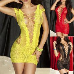 Sexiga damunderkläder spets Babydoll klänning Underkläder Nattkläder Ch Red One Size
