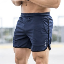 Summer Men Running Shorts Sports Fitness Short Pants Quick Dry  Black L