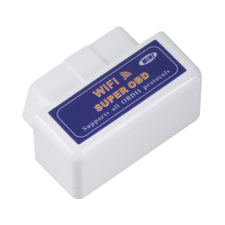 Super Wifi ELM327 ElM327 OBD2 II Car Diagnostic Tool OBD Scanner Black