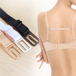 Underwear Non-slip Buckle Strap Elastic Bra Strap With Back Has Black 21CM