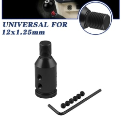 Universal Aluminum Shift Knob Adapter for Non Threaded Gear Shi Black
