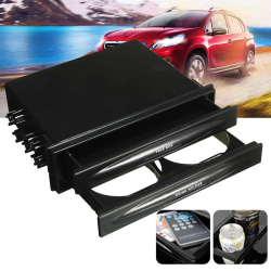 Universal Car Double Din Radio Pocket Installation Dash Storage Black