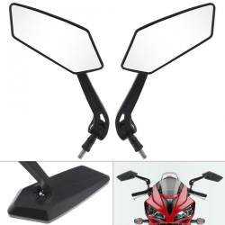 Universal Pair Motorcycle Motorbike Scooter Rearview Rear View S Black