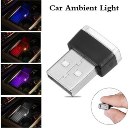 USB LED Mini Car Interior Light Strip Flexible Neon Atmosphere T White