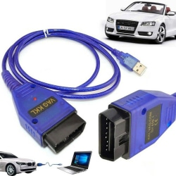 VAG409 OBDII KKL409.1 COM USB Diagnostic Scanner Interface CH340 Blue