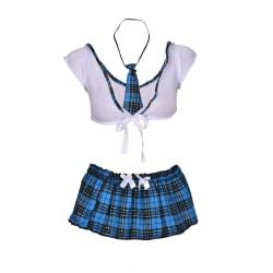 Women School Girl Uniform Costume Lingerie Halloween Sexy Fancy