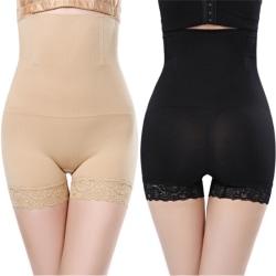 Women Slim Shapewear Body Shaper Seamless Brief High Waist Belly Black M/L