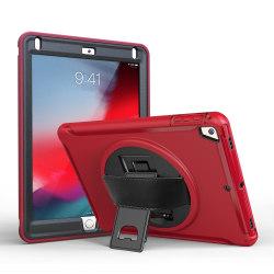 360 graders roterbart skydd till iPad 9.7 inch 2017 Röd