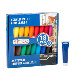 Akrylfärg i tub - 18-Pack