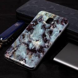 Bakskal Marmor Samsung Galaxy J7 (2018) Grå