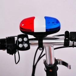 Elektrisk ringklocka till cykel med 4 toner och LED-lampa