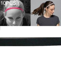 Hårband Elastisk Svart 10-pack