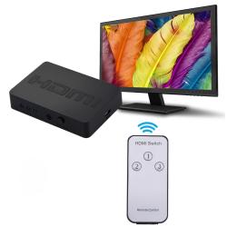 Hdmi Switch 1080P 3 x 1 Port med fjärrkontroll