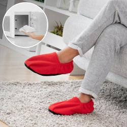 InnovaGoods Värmande Tofflor Röd