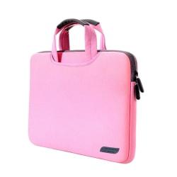 """Laptopsleeve med handtag 15,4"""" - Rosa"""