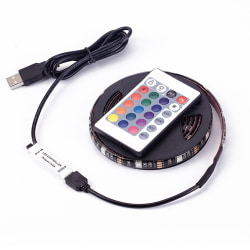 Led Slinga 5050 USB rgb färg Remote 24knappars - 3 meter Vattentät