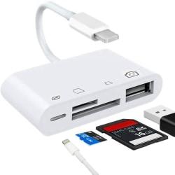 Lightning till Minneskortläsare + USB & Lightning