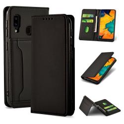 Mobilfodral med kortfack och magnetiskt fäste till Samsung Gala