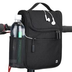 Smidig och stabil cykelväska till styret - svart