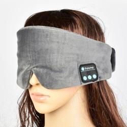 Sovmask med Bluetooth-hörlurar
