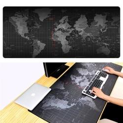 Stor musmatta med världskarta - 30x60cm