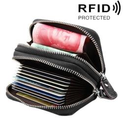 Svart Plånbok med RFID skydd - Många fack