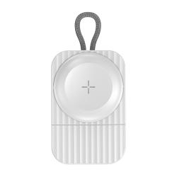 Trådlös magnetisk laddare till Apple Watch, vit