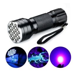 UV 21 LEDs 395NM Ultra Violet Ficklampa - Upptäcker Hundurin