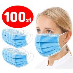 100-Pack - Munskydd - CE Märkt - Blå