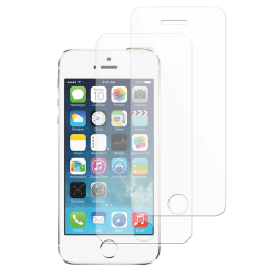 2-Pack - iPhone 5/5S & SE - Skärmskydd i härdat glas