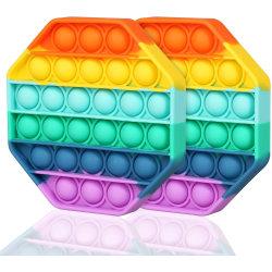 2-Pack Regnbåge - Pop It Fidget Toy - Oktogon