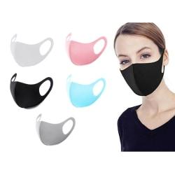 [ 2-PACK ] - Tvättbar Mask / Munskydd / Ansiktsmask - Svart Svart