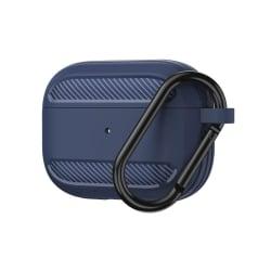 AirPods Pro Kolfiber Textur Skal - Blå Blue Blå