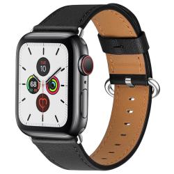 Äkta Läder Armband Apple Watch 42/44 mm - Svart