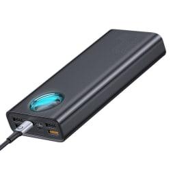 Baseus Amblight 30000 mAh Power Bank med LED-skärm - Svart