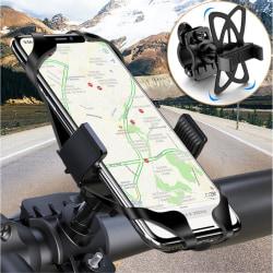 FLOVEME Universal Mobilhållare för Cykel - Svart Black Svart