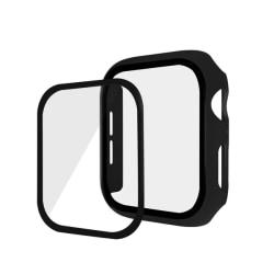 Härdat Glas   Skydd Apple Watch 44 mm - Svart