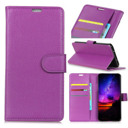 Samsung Galaxy S10 Plus - Litchi Plånboksfodral - Lila