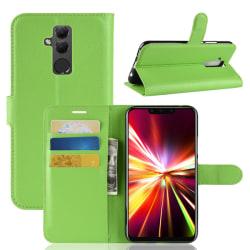 Huawei Mate 20 Lite - Litchi Plånboksfodral - Grön