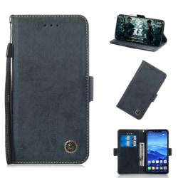 Huawei Mate 20 Lite - Retro Plånboksfodral - Mörk Blå