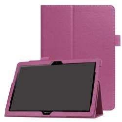 Huawei MediaPad T3 10 - Litchi läderfodral - Lila